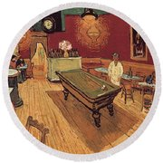 Van Gogh Night Cafe 1888 Round Beach Towel