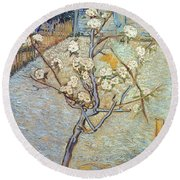 Van Gogh: Peartree, 1888 Round Beach Towel