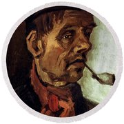 Van Gogh: Peasant, 1884 Round Beach Towel