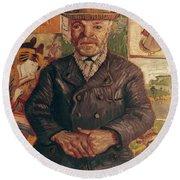 Van Gogh: Pere Tanguy, 1887 Round Beach Towel