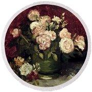 Van Gogh: Roses, 1886 Round Beach Towel