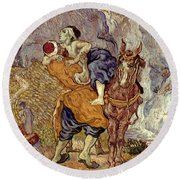 Van Gogh: Samaritan, 1890 Round Beach Towel