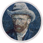 Van Gogh: Self-portrait Round Beach Towel
