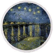 Van Gogh, Starry Night Round Beach Towel