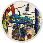 Van Gogh Takes A Wrong Turn And Discovers The Castro In San Francisco . 7d7547 Round Beach Towel