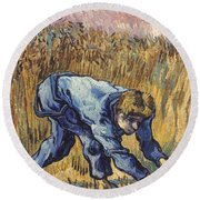 Van Gogh: The Reaper, 1889 Round Beach Towel