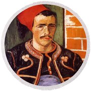Van Gogh: The Zouave, 1888 Round Beach Towel