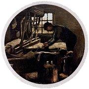 Van Gogh: Weaver, 1884 Round Beach Towel