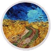 Van Gogh: Wheatfield, 1890 Round Beach Towel