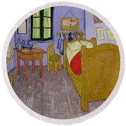 Van Goghs Bedroom At Arles Round Beach Towel