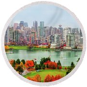 Vancouver After The Rain Round Beach Towel
