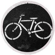 Vancouver Bike Lane- Art By Linda Woods Round Beach Towel