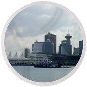 Vancouver Harbour Round Beach Towel