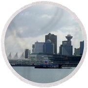 Vancouver Harbour Round Beach Towel