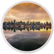 Vancouver Reflections Round Beach Towel