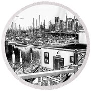 Vancouver Waterfront Round Beach Towel