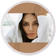 Vanessa Hudgens  Round Beach Towel
