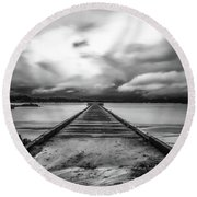 Vanished Round Beach Towel