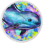 Vaquita Round Beach Towel