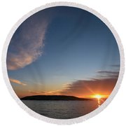 Variations Of Sunsets At Gulf Of Bothnia 2 Round Beach Towel