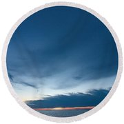Variations Of Sunsets At Gulf Of Bothnia 4 Round Beach Towel