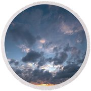 Variations Of Sunsets At Gulf Of Bothnia 5 Round Beach Towel