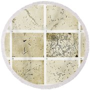 Various Bacilli Observed By Robert Koch Round Beach Towel