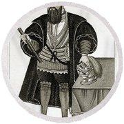 Vasco Da Gama, Portuguese Explorer Round Beach Towel
