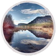 Vaseux Reflections Round Beach Towel