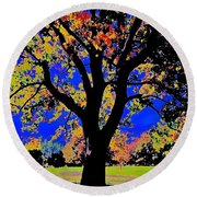 Oak Autumn Vasona Round Beach Towel