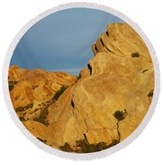 Vasquez Rocks State Park, Sunset Round Beach Towel