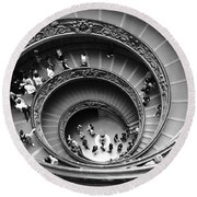 Vatican Bw Round Beach Towel by Stefano Senise