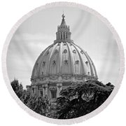 Vatican City Dome Round Beach Towel