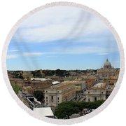 Vatican General View Round Beach Towel