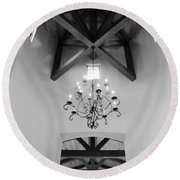 Vaulted Ceiling Round Beach Towel