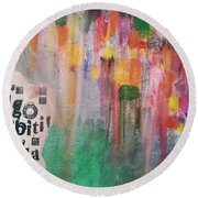 Be Different Round Beach Towel
