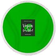 Vegan Life Round Beach Towel