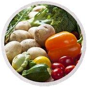 Vegetables Round Beach Towel