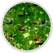 Vegetables Plant For Urban Life 2 Round Beach Towel