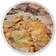 Vein Of Gold In Valley Of Fire State Park Round Beach Towel