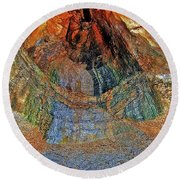 Veins Of The Earth Round Beach Towel
