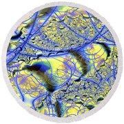 Veins To Lace Round Beach Towel