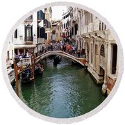 Venetian Bridge Round Beach Towel
