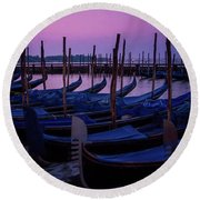 Venetian Dawn Round Beach Towel