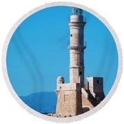 Venetian Lighthouse Round Beach Towel