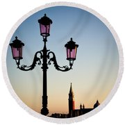 Venetian Sunset Round Beach Towel
