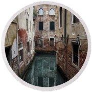 Venice - Canal Dreams  Round Beach Towel