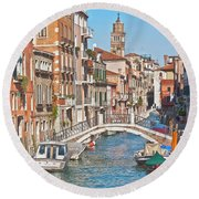 Venice Canaletto Bridging Round Beach Towel