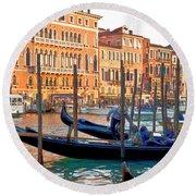 Venice Canalozzo Illuminated Round Beach Towel