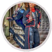 Venice Carnival Characters_dsc1364_02282017  Round Beach Towel